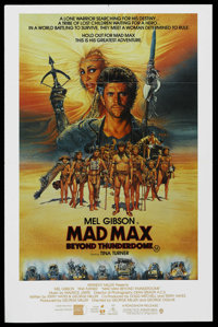 "Mad Max Beyond Thunderdome (Warner Brothers, 1985). Australian One Sheet (27"" X 40""). Science Fiction"