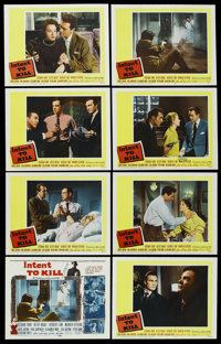 "Intent to Kill (20th Century Fox, 1958). Lobby Card Set of 8 (11"" X 14""). Thriller. ... (Total: 8 Items)"