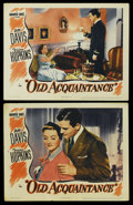 """Movie Posters:Drama, Old Acquaintance (Warner Brothers, 1943). Lobby Cards (2) (11"""" X 14""""). Drama. ... (Total: 2 Items)"""