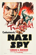 "Movie Posters:Drama, Confessions of a Nazi Spy (Warner Brothers, 1939). One Sheet (27"" X41"").. ..."