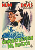 "Movie Posters:Drama, Juarez (Warner Brothers, late 1940s). First Post-War Italian Poster(27.75"" X 39.5"").. ..."