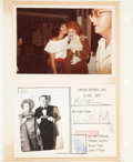 Movie/TV Memorabilia:Autographs and Signed Items, Lucille Ball's Photo Album Page with Items from Truman CapoteParty....