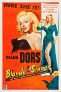 "Movie Posters:Bad Girl, Blonde Sinner (Allied Artists, 1956). One Sheet (27"" X 41"").. ..."