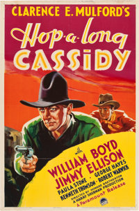 "Hop-a-long Cassidy (Paramount, 1935). One Sheet (27"" X 41"")"