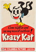 "Movie Posters:Animated, Krazy Kat (Columbia, 1936). Stock One Sheet (27"" X 41"").. ..."