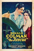 "Movie Posters:Adventure, The Rescue (United Artists, 1929). One Sheet (27"" X 41"").. ..."
