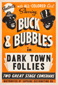 "Movie Posters:Black Films, Dark Town Follies (Supreme Distributing, 1930). One Sheet (27"" X41"").. ..."
