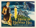 """Movie Posters:Horror, House on Haunted Hill (Allied Artists, 1959). Half Sheet (22"""" X 28"""").. ..."""