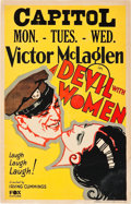 "Movie Posters:Adventure, A Devil With Women (Fox, 1930). Window Card (14"" X 22"").. ..."