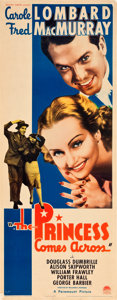 "Movie Posters:Comedy, The Princess Comes Across (Paramount, 1936). Insert (14"" X 36"")....."