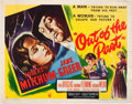 "Movie Posters:Film Noir, Out of the Past (RKO, 1947). Half Sheet (22"" X 28"") Style A.. ..."