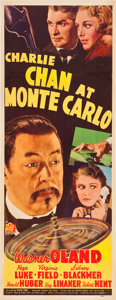 "Movie Posters:Mystery, Charlie Chan at Monte Carlo (20th Century Fox, 1937). Insert (14"" X36"").. ..."