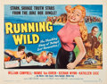 "Movie Posters:Bad Girl, Running Wild (Universal International, 1955). Half Sheet (22"" X 28"") Style B.. ..."