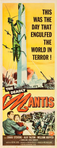 """Movie Posters:Science Fiction, The Deadly Mantis (Universal International, 1957). Insert (14"""" X36"""").. ..."""