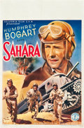 "Movie Posters:War, Sahara (Columbia, late 1940's). First Post-War Belgian (10.5"" X21.5"").. ..."