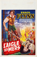 "Movie Posters:Swashbuckler, The Sea Hawk (Warner Brothers, late 1940s). First Post-War Belgian (14"" X 22"").. ..."