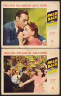 """Movie Posters:Romance, Hold Back the Dawn (Paramount, 1941). Lobby Cards (2) (11"""" X 14""""). Romance.. ... (Total: 2 Items)"""
