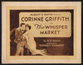 "Movie Posters:Drama, The Whisper Market (Vitagraph, 1920). Title Lobby Card (11"" X 14""). Drama.. ..."