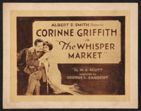 "The Whisper Market (Vitagraph, 1920). Title Lobby Card (11"" X 14""). Drama"