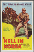 "Movie Posters:War, Hell In Korea (DCA, 1957). One Sheet (27"" X 41""). War.. ..."