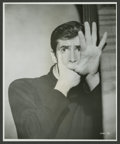 """Movie Posters:Hitchcock, Anthony Perkins in """"Psycho"""" (Paramount, 1960). Photo (7.5"""" X9.25""""). Hitchcock.. ..."""