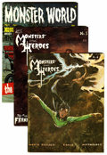 Magazines:Miscellaneous, Monsters and Heroes and Monster World Magazine Group(Various, 1965-69).... (Total: 3 Items)
