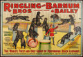 "Movie Posters:Miscellaneous, Circus Poster Lot (Ringling Brothers and Barnum & Bailey,1938). Poster (53"" X 80""). Miscellaneous.. ..."