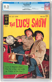 The Lucy Show #2 File Copy (Gold Key, 1963) CGC NM- 9.2 Off-white to white pages