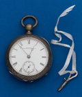 Timepieces:Pocket (pre 1900) , Illinois, 18 Size, Coin Silver, Key Wind. ...