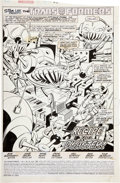 Original Comic Art:Splash Pages, Jose Delbo and Dave Hunt Transformers #53 Splash page 1Original Art (Marvel, 1989)....