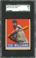Baseball Cards:Singles (1940-1949), 1948-49 Leaf Ted Williams #76 SGC 40 VG 3....
