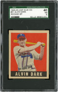 Baseball Cards:Singles (1940-1949), 1948 Leaf Alvin Dark SP #51 SGC 40 VG 3....