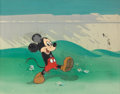 Animation Art:Production Cel, Mickey Mouse Animation Production Cel and CourvoisierBackground Original Art (Disney, undated)....