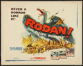 "Movie Posters:Science Fiction, Rodan! The Flying Monster (Toho/DCA, 1957). Half Sheet (22"" X 28"").Science Fiction.. ..."