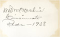 Baseball Collectibles:Others, Bill McKechnie Signed Cut Signature....