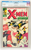 Silver Age (1956-1969):Superhero, X-Men #1 (Marvel, 1963) CGC VF/NM 9.0 Off-white to white pages....