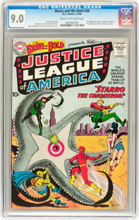 The Brave and the Bold #28 Justice League of America (DC, 1960) CGC VF/NM 9.0 Cream to off-white pages