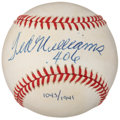 "Baseball Collectibles:Balls, Ted Williams "".406"" Single Signed UDA Baseball (1043/1941)...."