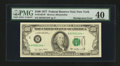 Error Notes:Shifted Third Printing, Fr. 2168-B* $100 1977 Federal Reserve Note. PMG Extremely Fine 40.. ...