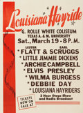 Music Memorabilia:Posters, Louisiana Hayride Placard for a March 19, 1955 Show....