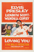 Music Memorabilia:Posters, Loving You One Sheet Movie Poster (Paramount, 1957)....
