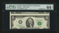 Error Notes:Miscellaneous Errors, Fr. 1935-A* $2 1976 Federal Reserve Note. PMG Choice Uncirculated 64 EPQ.. ...