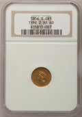 Gold Dollars, 1856-S G$1 Type Two XF40 NGC....