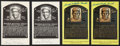 Baseball Collectibles:Others, Bill Dickey and Joseph Wheeler Sewell Single Signed Hall of FamePostcards Lot of 4....