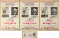 Boxing Collectibles:Autographs, Max Schmeling Signed Replica Broadsides Group of (4). ...