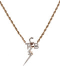 Music Memorabilia:Memorabilia, Diamond TCB Necklace - Gift From Elvis Presley to Jackie Kahane....