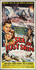 "Movie Posters:Adventure, Sea of Lost Ships (Republic, 1953). Three Sheet (41"" X 81"").Adventure.. ..."