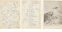 Book Pages Signed by Hollywood Notables, Including Jimmy Durante