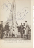 Movie/TV Memorabilia:Autographs and Signed Items, Clark Gable, Susan Hayward, Ginger Rogers Signed Book Page....