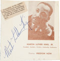 Movie/TV Memorabilia:Autographs and Signed Items, Martin Luther King Jr. Autograph....